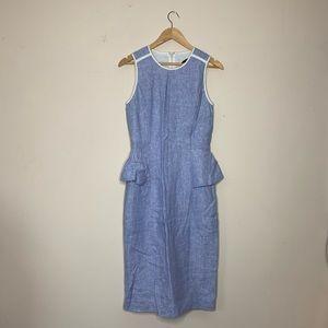 J. Crew A-Line Linen Peplum Dress, sz. 2T